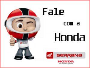 Fale Conosco Serrana Motos Honda
