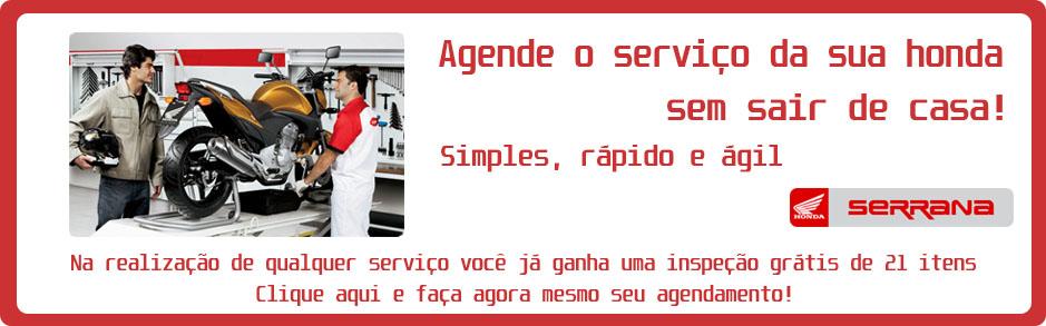 Agendamento Oficina Serrana Motos Honda